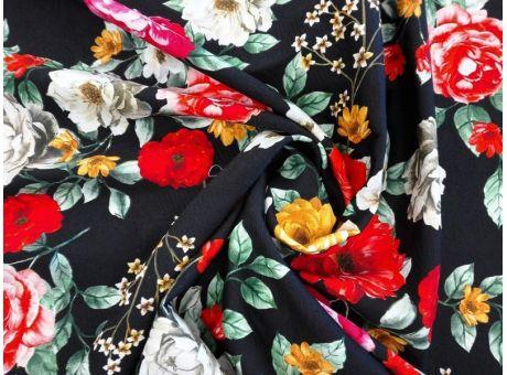 Żakard Sorella - Róże na czerni