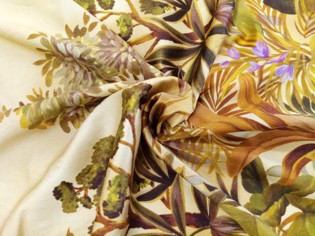 Jedwab Sygnowany -Tropikalny Las