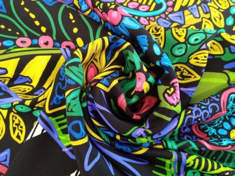 Jedwab Sygnowany - Neonowe Kwiaty