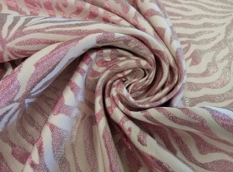 Żakard - Różowa Zebra