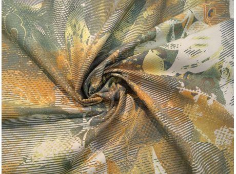 Bawełna Kitale zieleń wzór