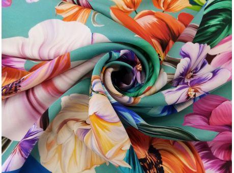Jedwab Sygnowany - Kolorowe Kwiaty