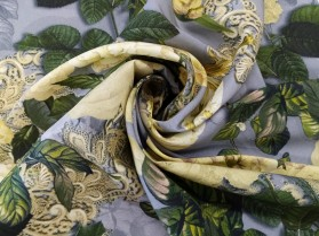 Jedwab Sygnowany - Złote Kwiaty