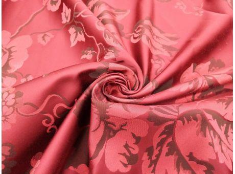 Żakard Boario - Róże W Kolorze Wina