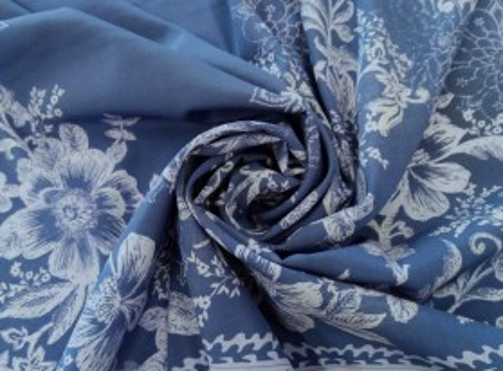 Jedwab Sygnowany - Kwiaty Vintage
