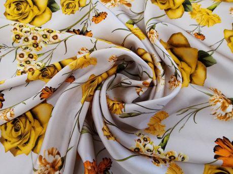 Jedwab Sygnowany - Róże i goździki