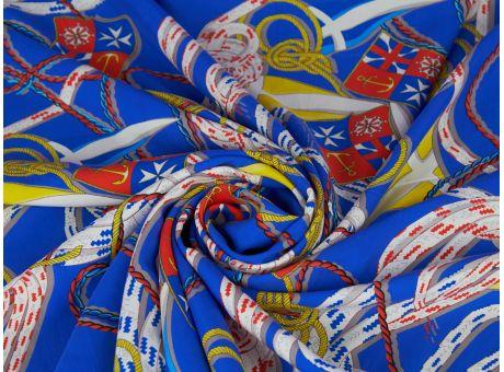 Jedwab sygnowany marynarski styl dwa kolory