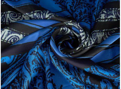 Jedwab Glacerea Ornament modrak