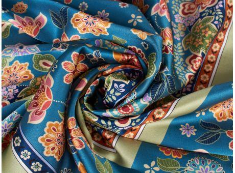 Jedwab Sygnowany - Kwiatki w stylu folklor
