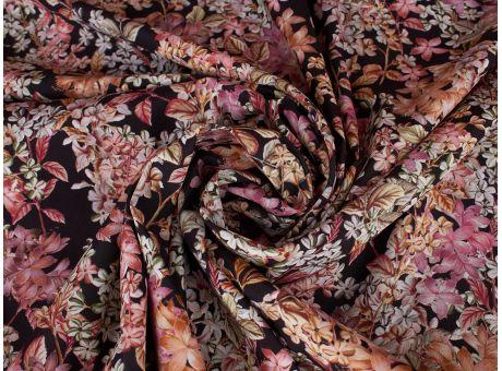Jedwab Sygnowany - Jesienne Kwiaty - Krepa
