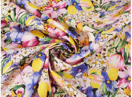 Bawełna Malon- Mix Kwiatowy