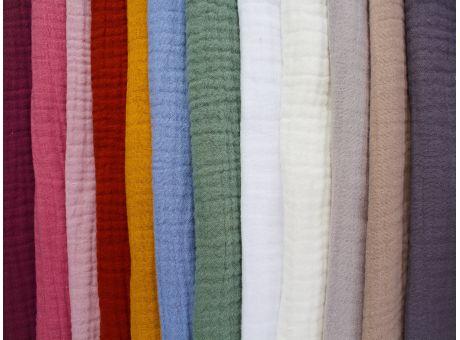 Muślin bawełniany - kreszowany - gama kolorów