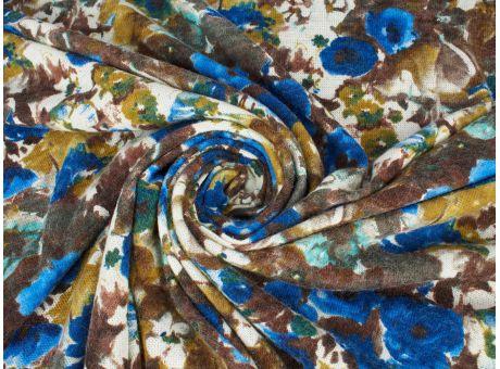 Sweterówka Irvin niebieskie kwiaty