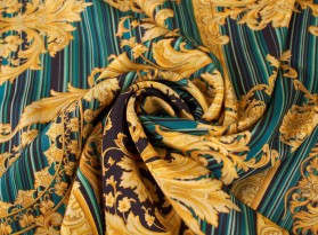 Jedwab Sygnowany - paski i ornamenty w stylu Versace
