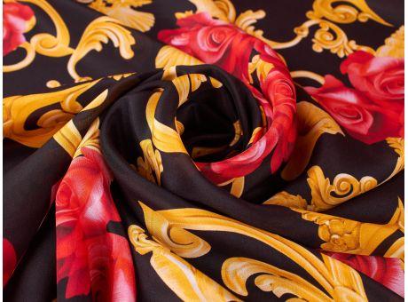 Jedwab Sygnowany - Róże w stylu Versace