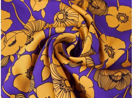 Jedwab Sygnowany - kwiatowy szyfon