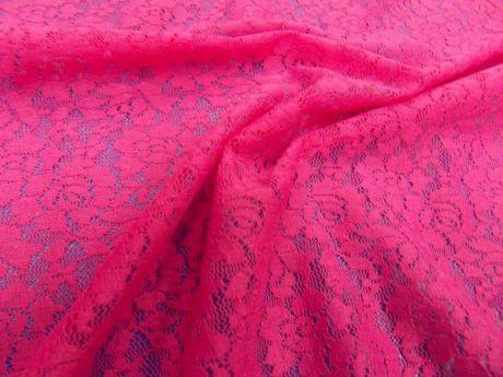 Koronka Napoli różowa